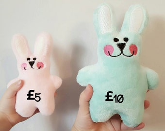 Bunny Soft Toy, Rabbit Soft Toy, Easter Gift, Easter Soft Toy, Cuddly Toy, Plushie, Stuffie