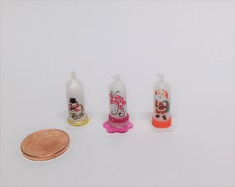 Candle is made of wax, in a scale of 1zu12, Doll House, dollhouse miniatures, miniatures,