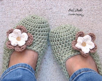 Crochet Womens Slippers, Accessories, Adult Crochet Slippers, Home Shoes, Crochet Women Slippers,Non-Slip Sole,Extra thick