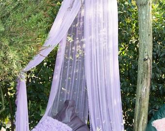 Lilac Baldachin -  Play Canopy, Crib Canopy, Kids canopy, Nursery canopy, Bed canopy, Play room canopy, Hanging Canopy, Nook, Photo