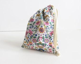 Tiny Liberty lawn 'Palmeira A' Drawstring Bag