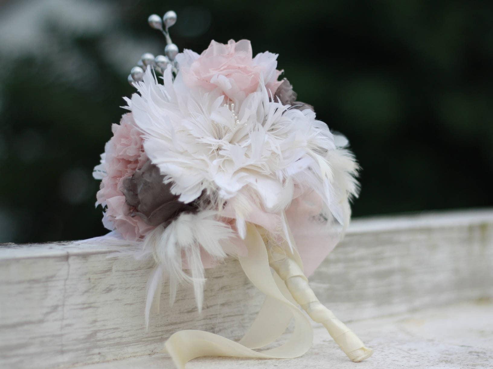 Fabric Bouquet Tutorial Fabric Flower Bouquet Feather Flower