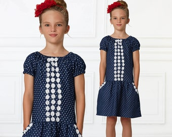 Peasant dress pattern PDF, girls sewing pattern pdf, dress sewing patterns , dress patterns, short and long sleeve peasant pattern, DAISY