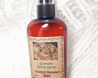 Room Sprays, Country Cinnamon Buns, room freshener, primitive room sprays, teacher gift, 4 oz bottle, teacher gift, Moeggenborg Sugar Bush