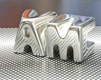 Personalized Metal Letters | Polished Mirror Finish