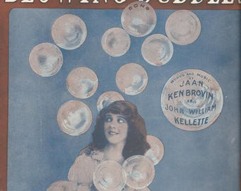 """Vintage 1919 """"I'm Forever Blowing Bubbles"""" Sheet Music"""