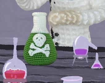 Crochet Pattern ~ Flask With Poison ~ Crochet Pattern