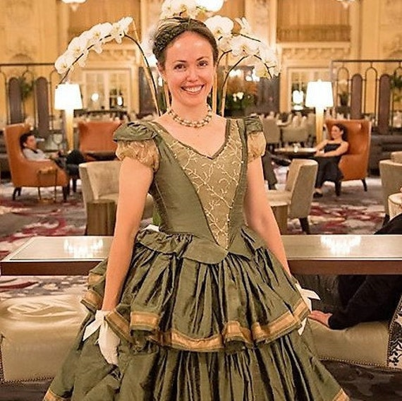 Victorian Dresses, Clothing: Patterns, Costumes, Custom Dresses Womans Civil War Era Victorian Wedding Gown 3 Tier Silk SkirtWomans Civil War Era Victorian Wedding Gown 3 Tier Silk Skirt $1,495.00 AT vintagedancer.com