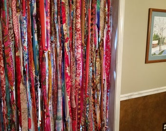 "Bohemian Curtains Boho Curtains Gypsy Curtains Hippie Curtains 90"" x 84"" Curtains Boho Door Curtains Room Divider Curtains"