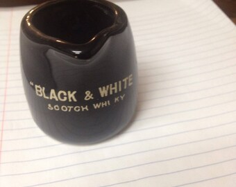 """Black & White Scotch Whisky ; creamer 3"""" , has a Made in Japan sticker on bottom"""