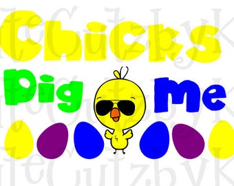 Easter SVG for Cricut cutting machine - Chicks Dig Me