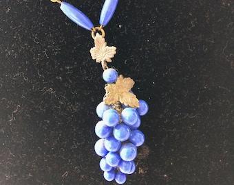 Cobalt Blue 1920's necklace