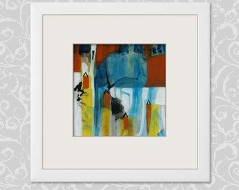 Abstract painting 20/20 cm... 7,87/7,87 Inch