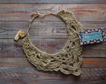 handmade crochet necklace iridescent