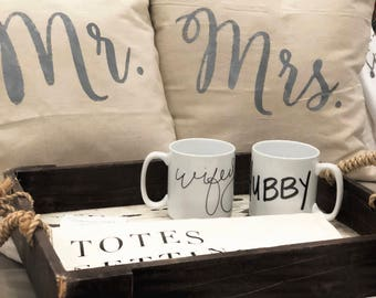 Mr. & Mrs. Throw Pillow Covers | Bridal gift | Wedding gift | shower gift | wedding shower | wedding | hubby | wifey