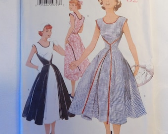 Vintage Butterick Retro '52 Fast and Easy  Dress Sewing Pattern 6173 Misses Size 8-10-12, Wrap Dress 1999