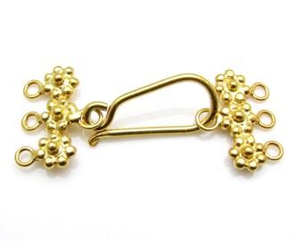 1 Set, 24k Gold Vermeil Clasp