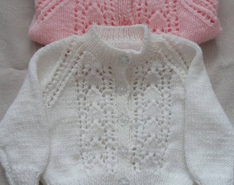 Hand knitted girls cardigans