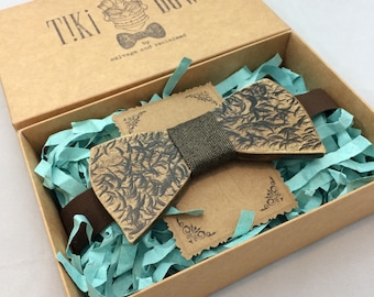 """Wooden Bow Tie """"Classic ribbon"""" shape"""