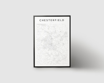 Chesterfield Map Print