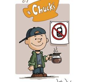 Luke's Cafe Peanuts Illustration