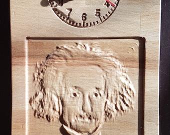 Einstein Carved Wall Clock