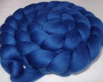 Wool roving, roving wool, spinning fiber, wool for felting, merino wool roving, 20 mic, dreads,dolls hair,blue roving,CORNFLOWER, 3.5oz,100g