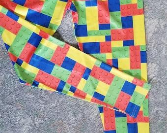 Building Blocks/Bricks Lego-Inspired Leggings