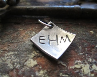 Sterling Silver Monogram Charm with optional date or name on the back!
