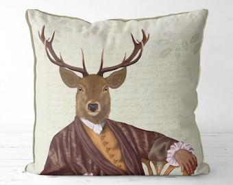 Stag pillow cover deer decor Deer cushion cover - Illustrious Deer - Animal pillow cabin items sofa cushion farmhouse pillow throw pillow