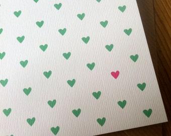 MANY MINI HEARTS Card