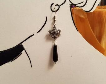 Earrings Black Onyx Drops