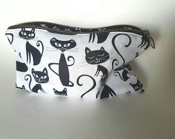 Cat Zipper Pouch / Cat Cosmetic Bag
