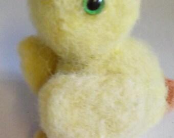 needle felted duck, duck,needle felted, needle felted bird, needle felted animals, wool felt duck, duck sculpture, nursery decor, small duck