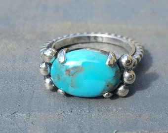 Turquoise Oval Cabochon Ring