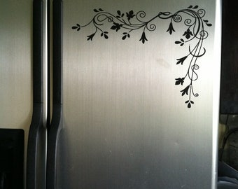 Refrigerator scroll  Vinyl decal