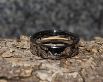 Tungsten ring - Size 6 comfort fit - only 1,5 mm thick !