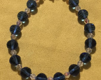 Light Sapphire and Crystal AB Bracelet