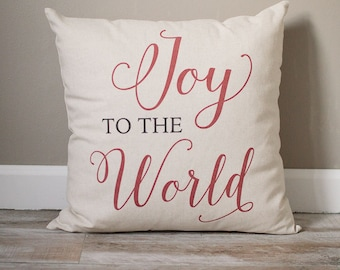 Joy To The World Pillow | Christmas Pillow | Holiday Pillow | Christmas Gift | Rustic Decor | Holiday Decor | Christmas Decor