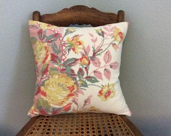 Vintage floral pillow cover