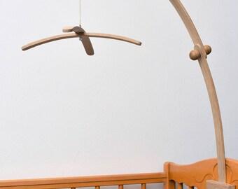 Baby Crib Wooden OAK Mobile Arm, Baby Mobile Stand, Nursery Mobile Crib Holder
