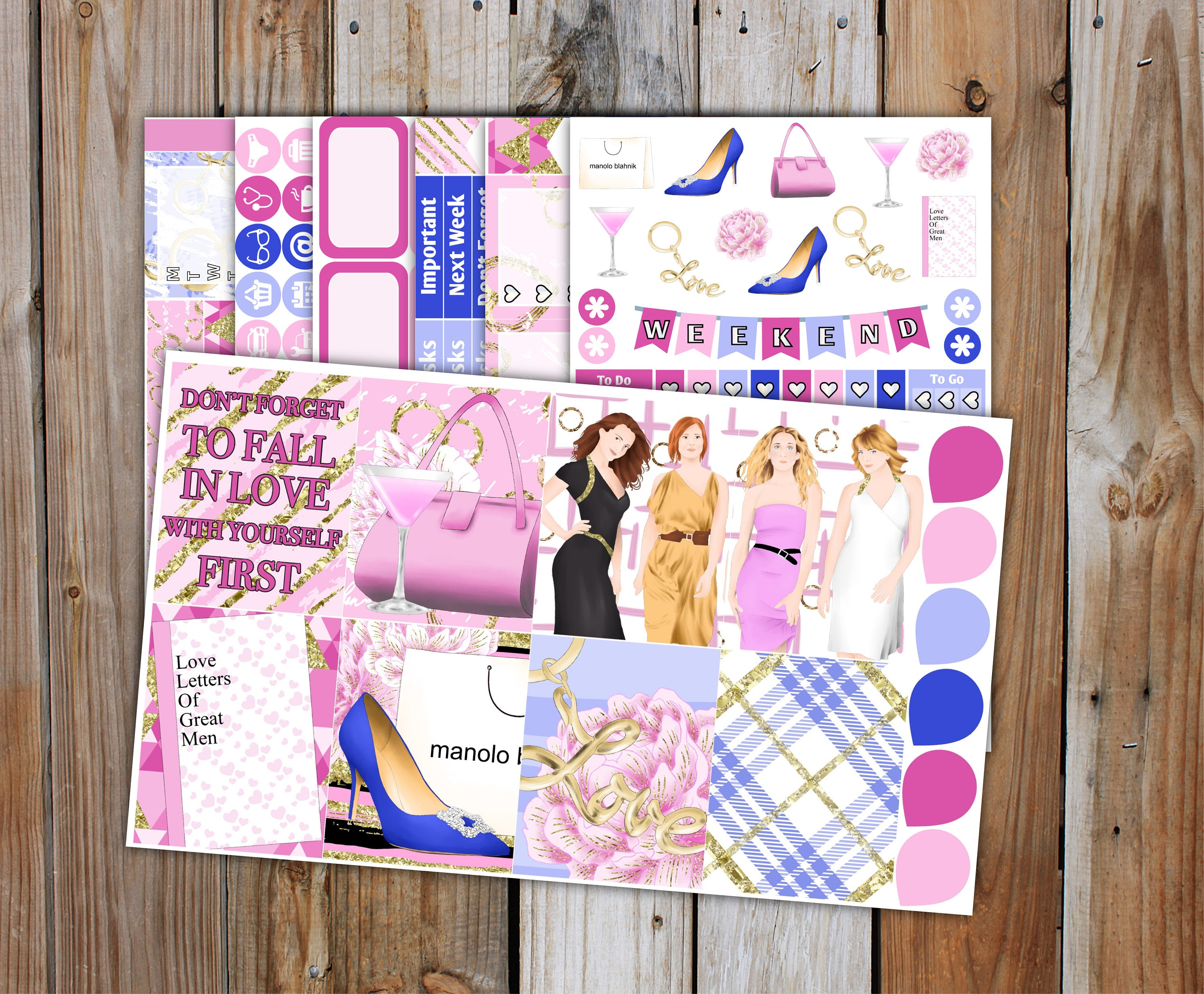 Sex In The City Planner Sticker DELUXE Kit 7 Pages