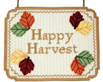 PATTERN: Happy Harvest Wall Hanging in Plastic Canvas
