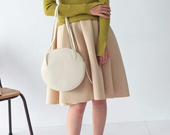 Versilia Skirt- neoprene pleated skirt