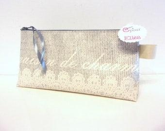 Romantic beige makeup or pencil case