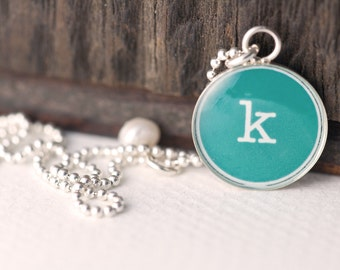 Initial Necklace   Personalized Initial Charm   Letter Charm