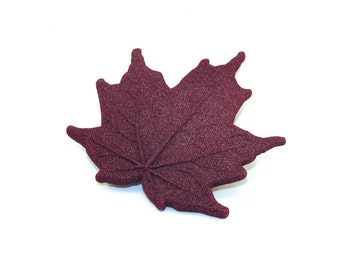 Magnetic Maple Brooch
