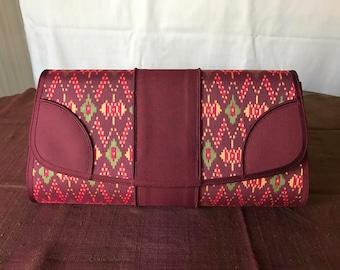 Handmade silk clutch 010