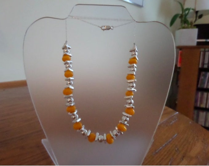Sunny Yellow Lamp Work Necklace
