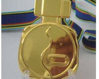 1972  Sapporo Japan Winter Olympic 'Gold' Medal with Ribbons  !!!